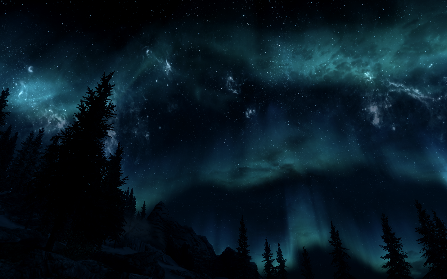skyrim enhanced night sky